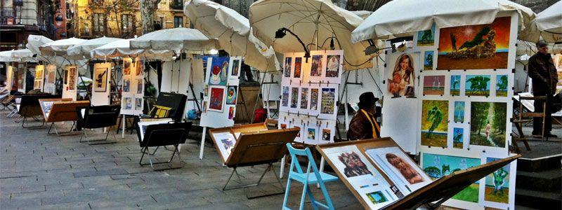 pintores_plazadelpi_planes_barcelonagratis